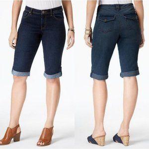 NWT Style & Co Cuffed Denim Skimmer Shorts #3515